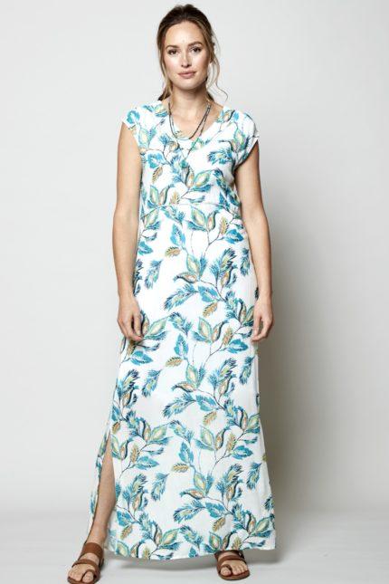 Nomads maxi šaty aquarelle bílé