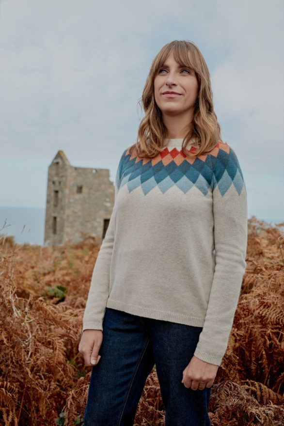 Seasalt Cornwall merino svetr camber rocks agate
