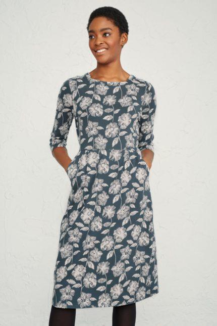 Seasalt Cornwall Šaty tamsin granite z bio bavlny
