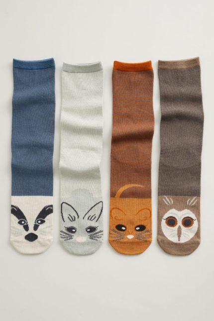 Seasalt Cornwall dárkové balení dámských ponožek sailor wildlife