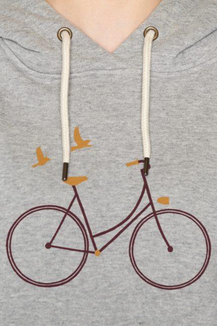 Greenbomb mikina s kapucí bike birds
