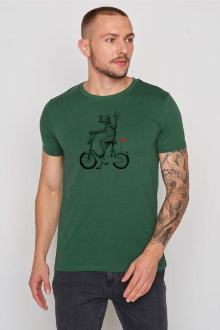 Greenbomb tričko bike frog zelené