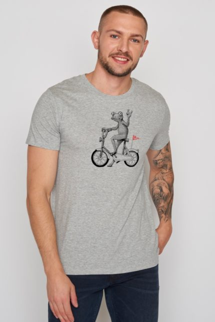 Greenbomb tričko bike frog šedé