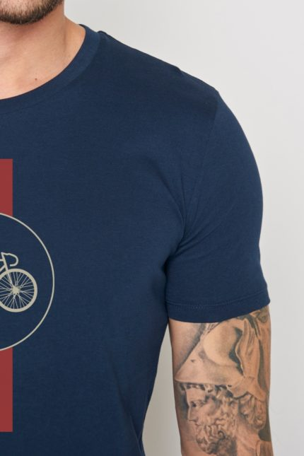 Greenbomb tričko highway modré