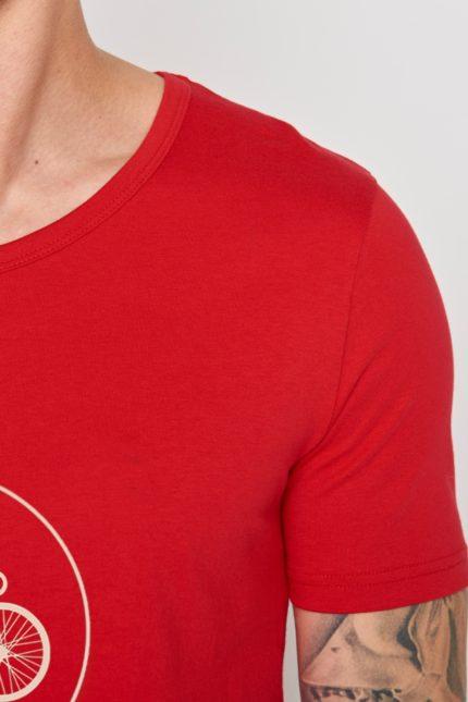 Greenbomb tričko highway červené