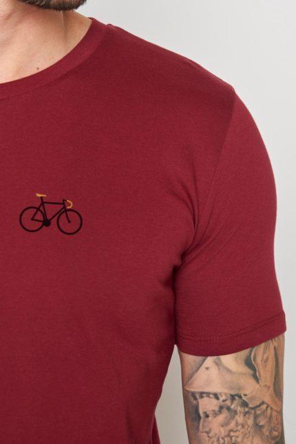 Greenbomb tričko bike sprint bordó