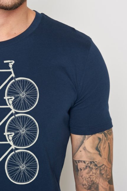 Greenbomb tričko bike trio modré