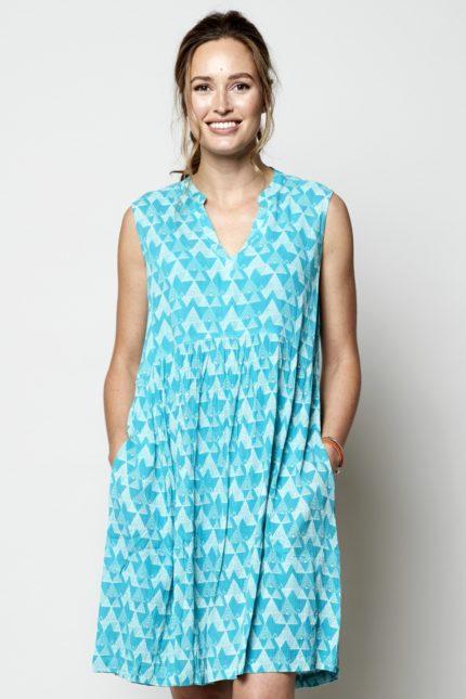 Nomads tunikové šaty cairo modré