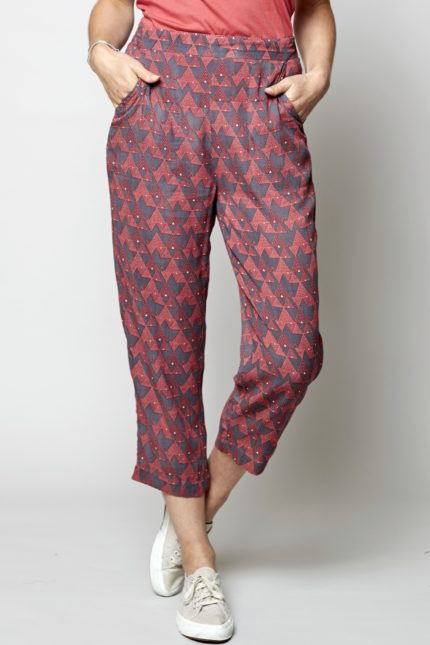 Nomads crop kalhoty cairo růžové