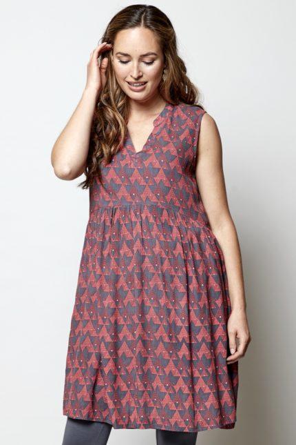 Nomads tunikové šaty cairo růžové