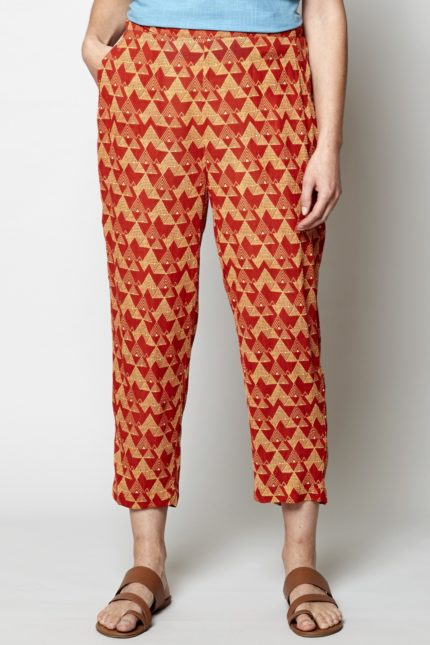 Nomads crop kalhoty cairo oranžové