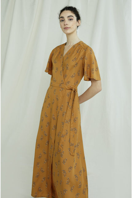 People Tree tencelové zavinovací šaty caroline