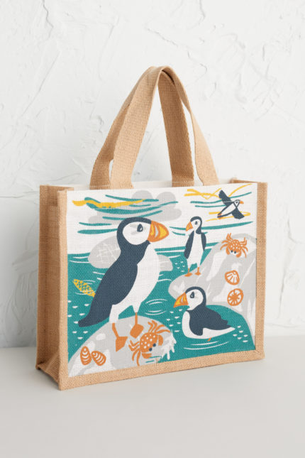Seasalt Cornwall jutová taška puffin island – malá