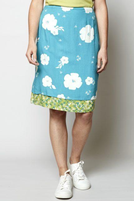 Nomads oboustranná sukně hibiscus modrá