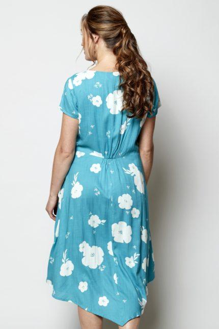 Nomads Šaty hibiscus modré