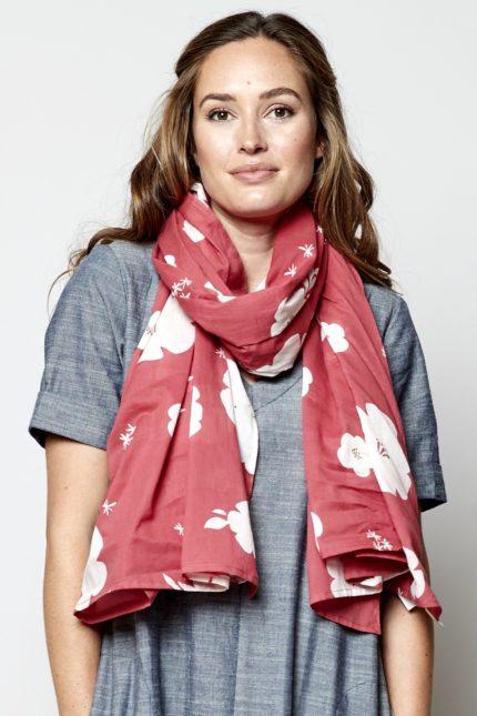 Nomads sarong hibiscus růžový