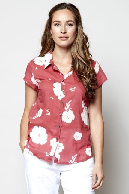 Nomads košile hibiscus růžová