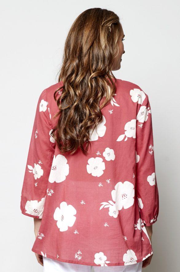 Nomads blůza hibiscus růžová