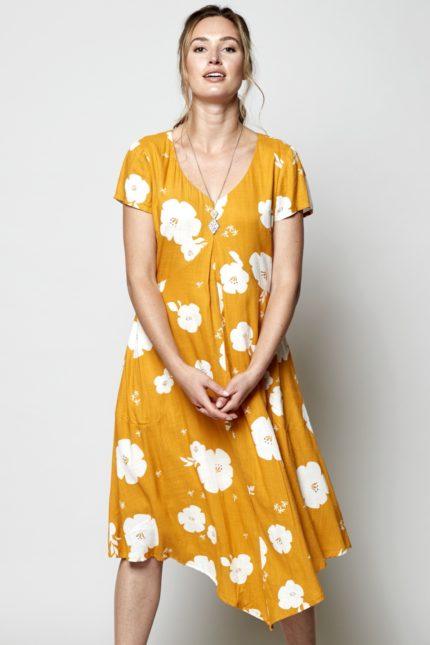 Nomads Šaty hibiscus žluté