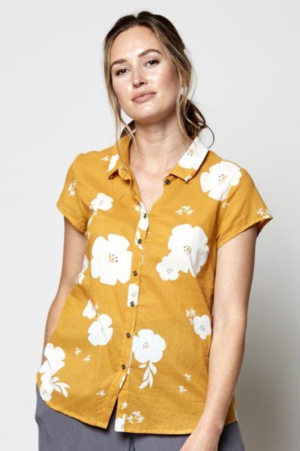 Nomads košile hibiscus žlutá