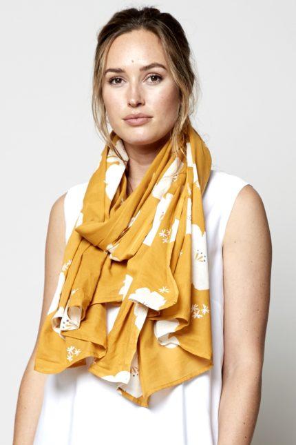 Nomads sarong hibiscus žlutý