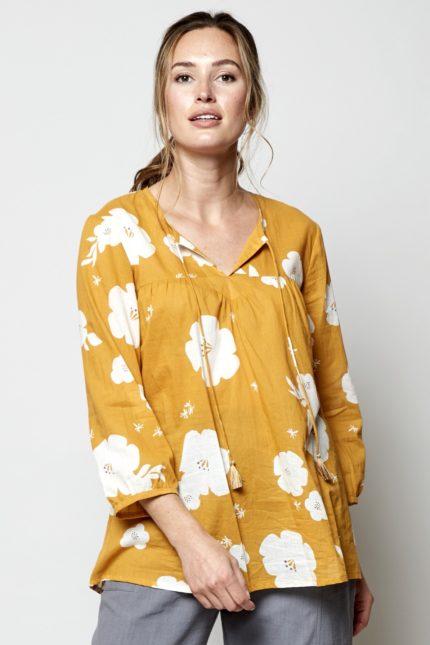 Nomads blůza hibiscus žlutá