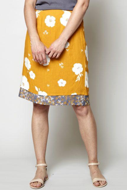 Nomads oboustranná sukně hibiscus žlutá