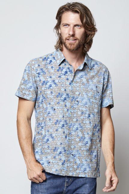 Nomads pánská košile s krátkým rukávem honeycomb