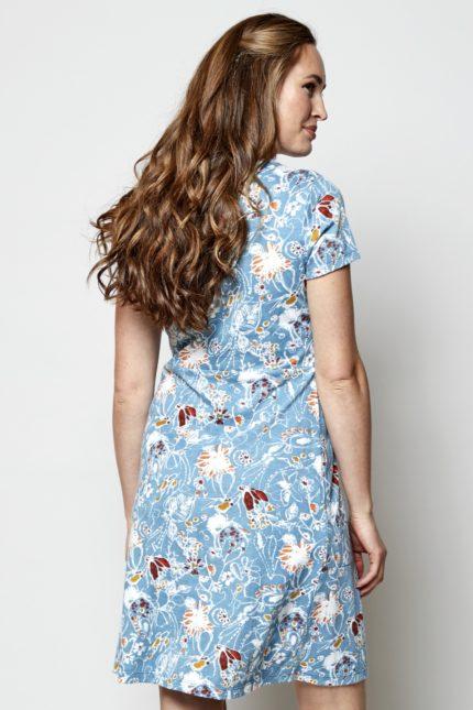 Nomads tunikové šaty hepworth crochet modré