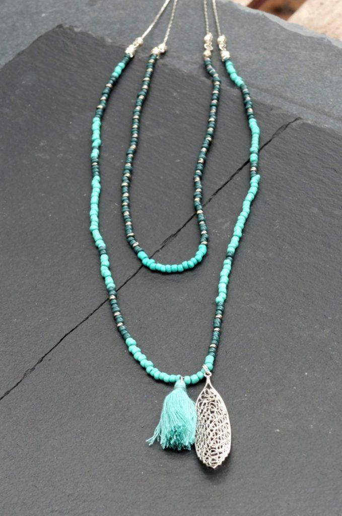 Nomads náhrdelník leaf charm