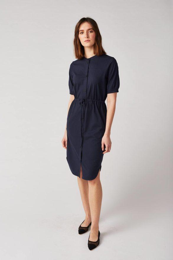 Lana košilové šaty bellevile modré z bio bavlny