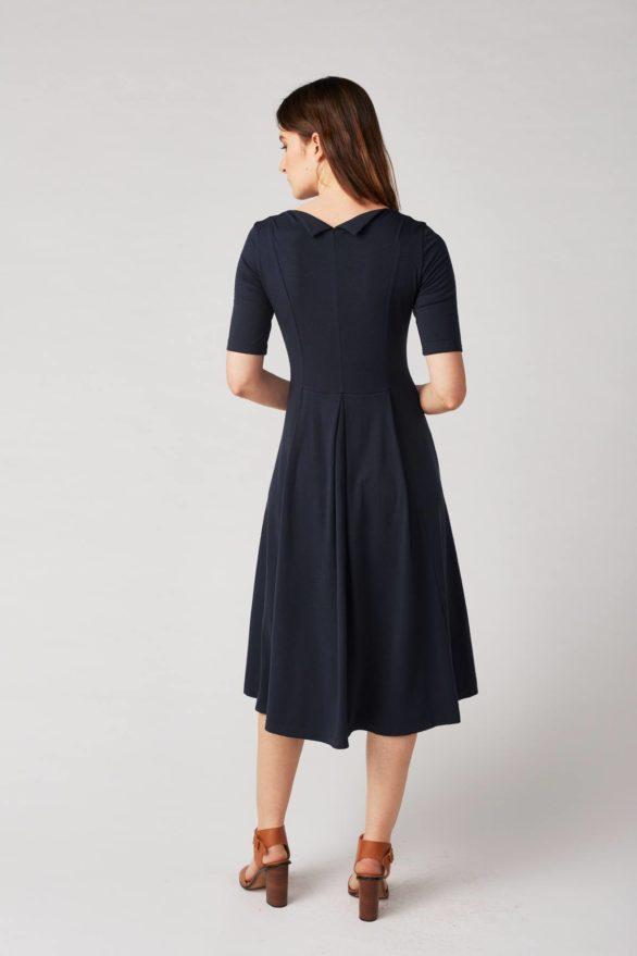 Lana Šaty himiko modré z bio bavlny