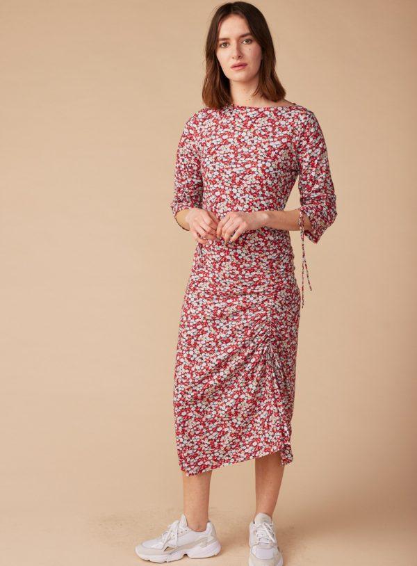 Lana midi šaty olympe z bio bavlny