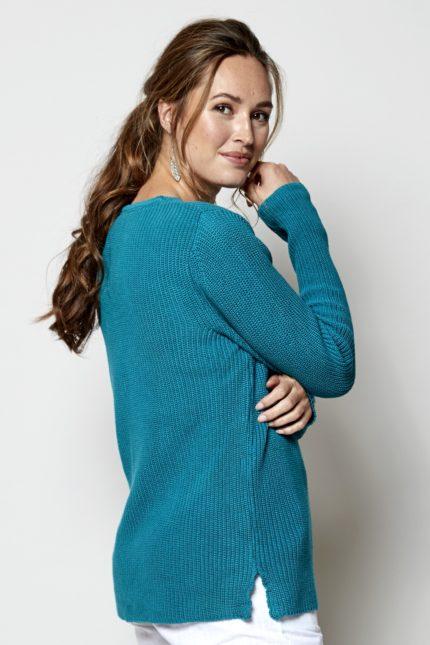 Nomads Žebrovaný svetr modrý z bio bavlny