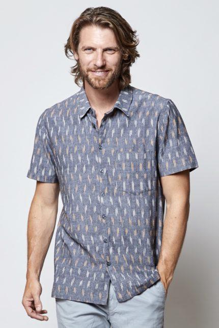Nomads pánská košile s krátkým rukávem ikat