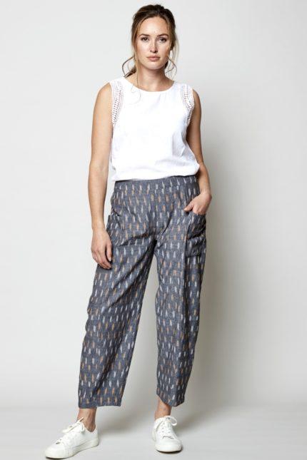 Nomads crop kalhoty ikat