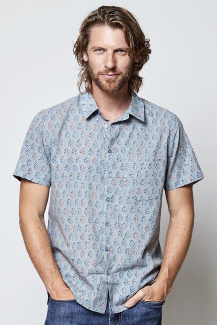Nomads pánská košile s krátkým rukávem solitaire pearl