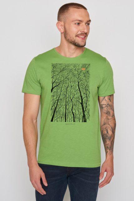 Greenbomb tričko forest peep zelené