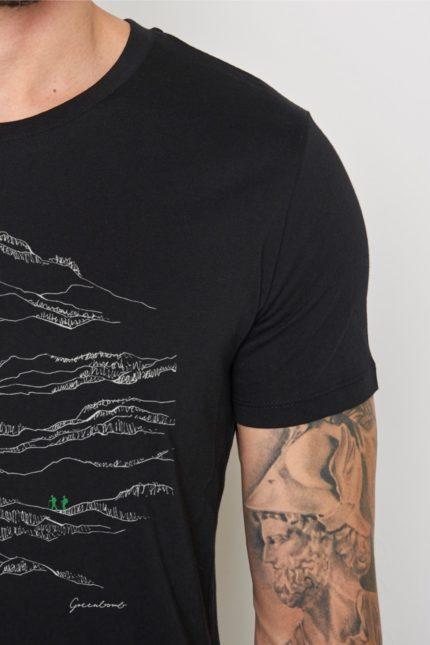 Greenbomb tričko nature hike černé
