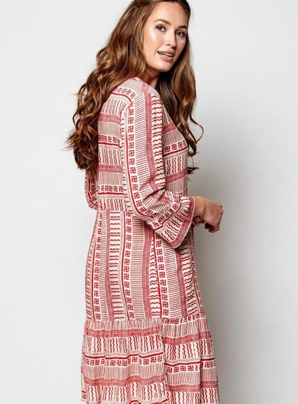 Nomads tunikové šaty zen červené