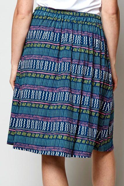 Nomads sukně zen modrá z bio bavlny