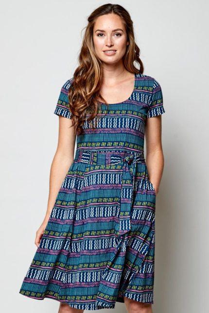 Nomads Šaty zen modré z bio bavlny
