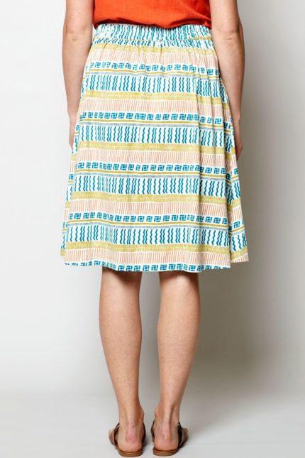 Nomads sukně zen bílá z bio bavlny