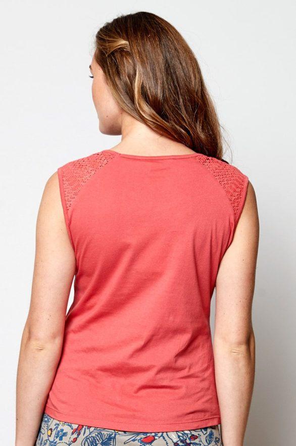 Nomads top bez rukávů růžový z bio bavlny