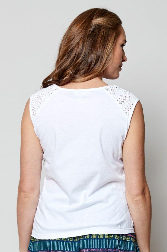 Nomads top bez rukávů bílý z bio bavlny