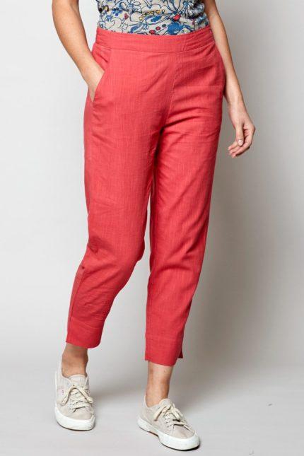 Nomads slim kalhoty pomegranate