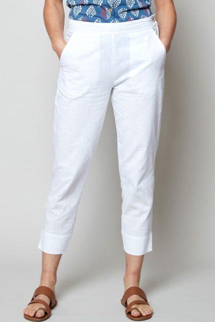 Nomads slim kalhoty white