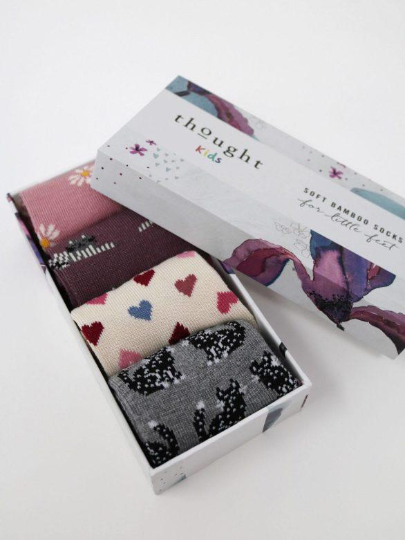 Thought dárkové balení dětských ponožek kitty baby