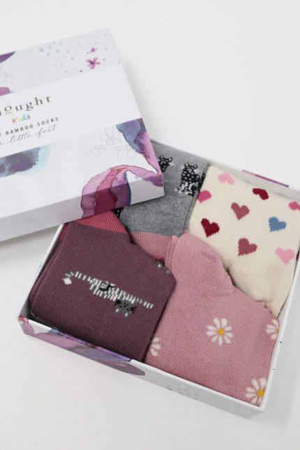 Thought dárkové balení dětských ponožek kitty kids