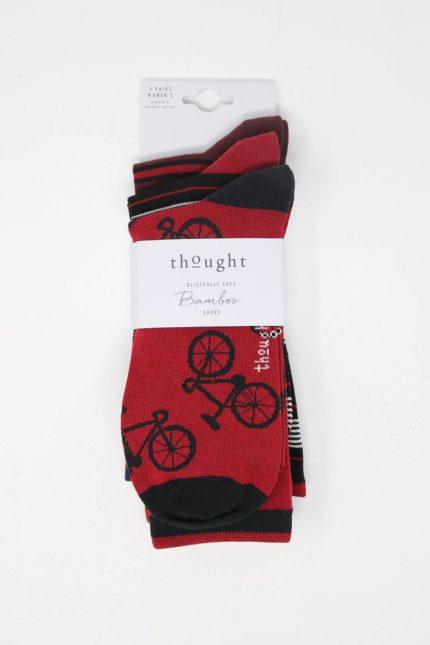 Thought dárkové trojbalení pánských ponožek jonathan bicycle